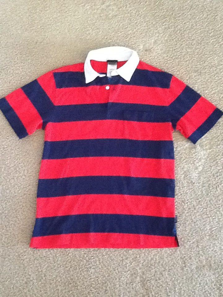 パタゴニア メンズ スクイーキークリーンポロシャツ 赤??紺
