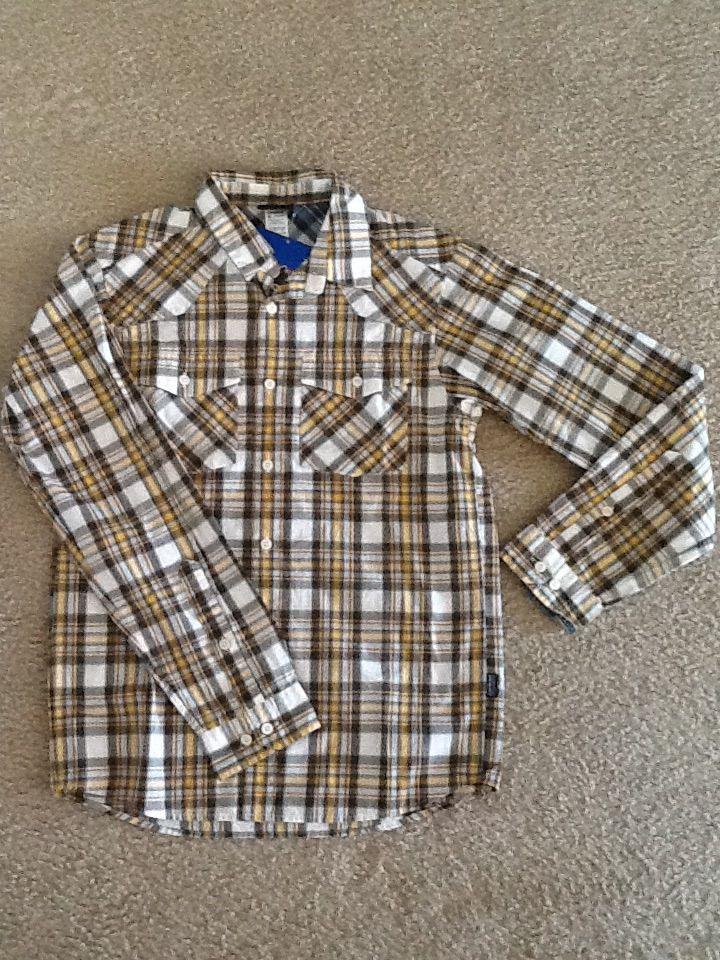 パタゴニア メンズ オーガニックコットン 茶系チェックシャツ