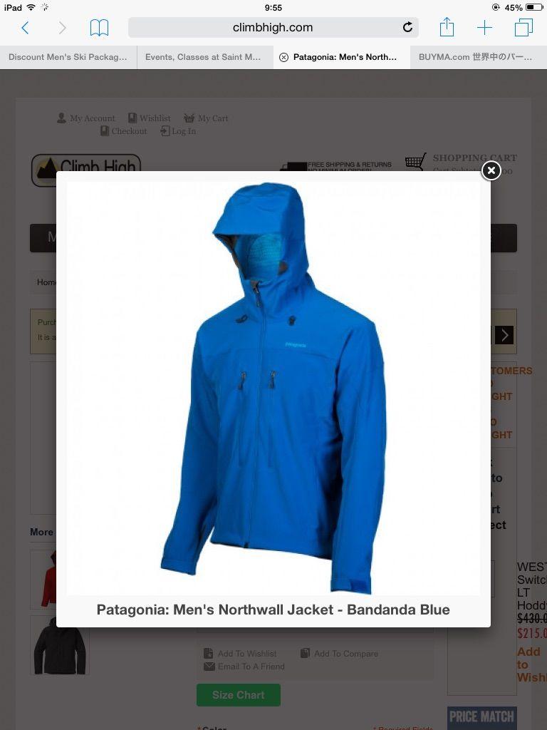 パタゴニア メンズ ノースウォルジャケット ブルー