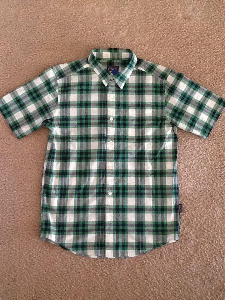 パタゴニア メンズ 半袖チェックシャツ
