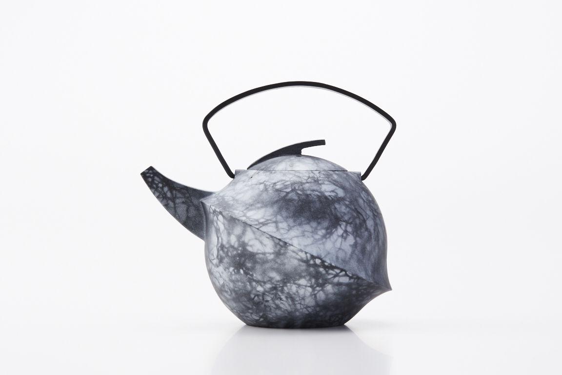 YOnoBI 鋳物ティーポット kabutoⅡ laver silver