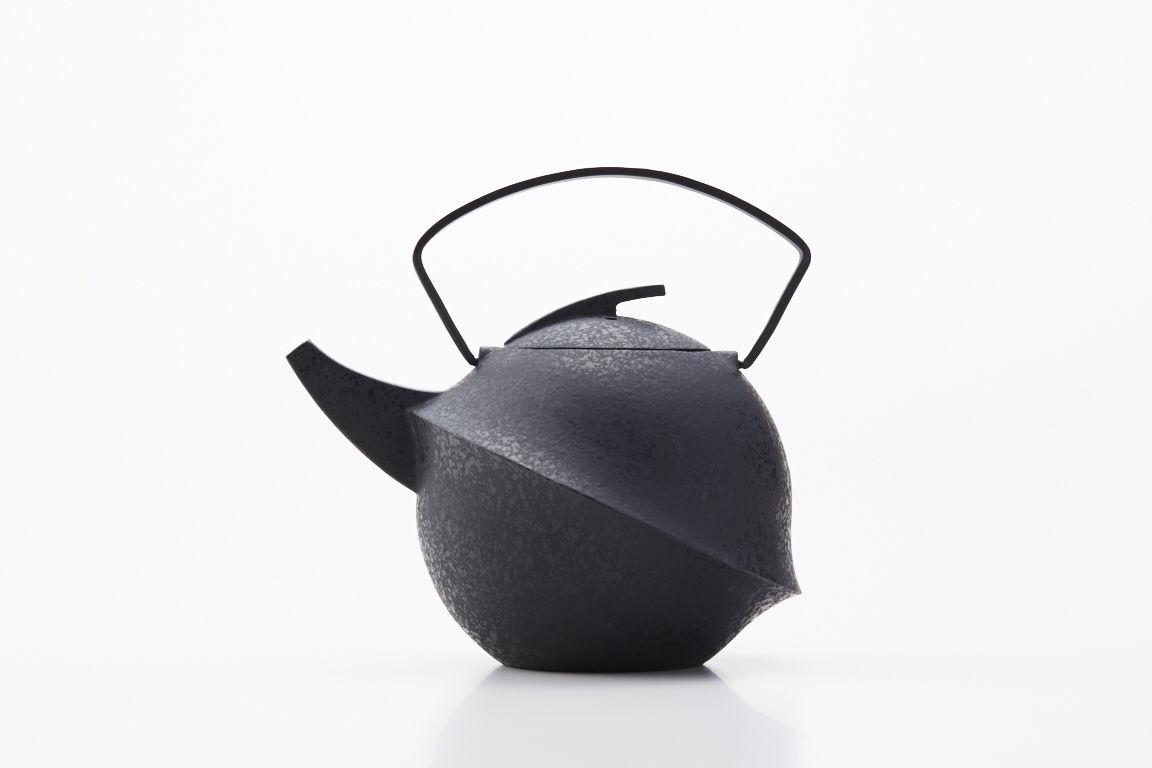 YOnoBI 鋳物ティーポット kabutoⅡ S/ebony