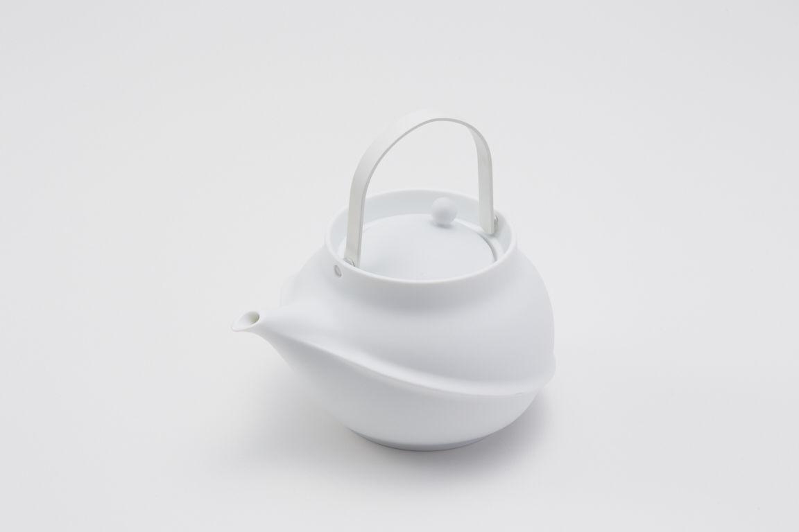 YOnoBI 磁器ティーポット【TANE】white