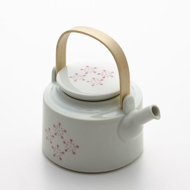 YOnoBI 磁器ティーポット h-komon teapot pink
