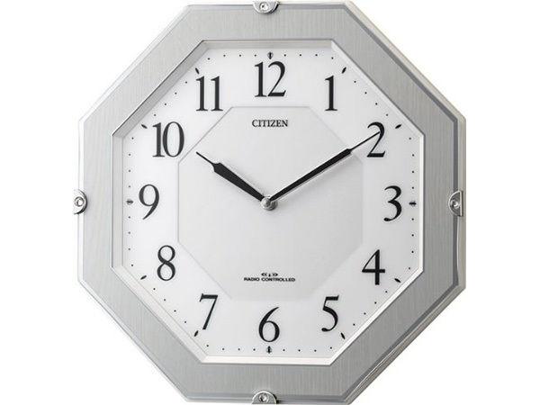 シチズン サイレントソーラー 電波掛け時計 4MY826-004