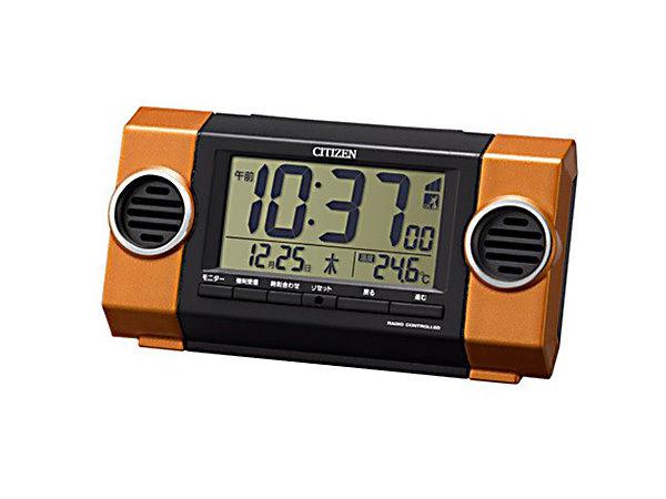 シチズン パルデジットバトルR135 大音量 電波めざまし時計 8RZ135-014
