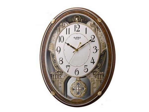 シチズン CITIZEN リズム時計製 メロディ電波掛け時計 4MN524RH23