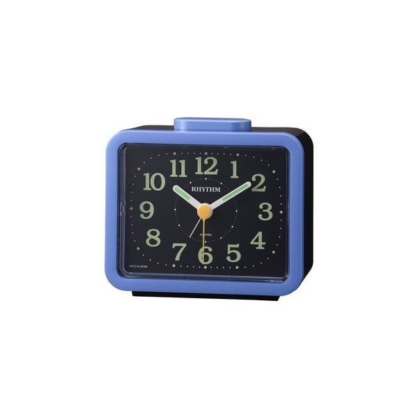 リズム RHYTHM クォーツ ジャプレSR859 目覚し時計 4RA859SR04 ブルー