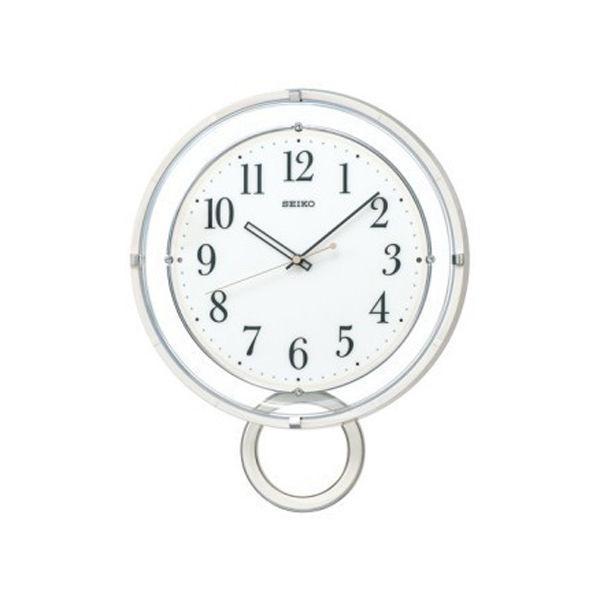 セイコー SEIKO 電波 振り子時計 掛け時計 PH205W ホワイト