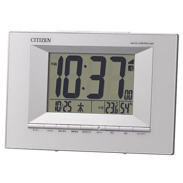リズム RHYTHM シチズン 電波掛け置き時計 8RZ181-003 ホワイト