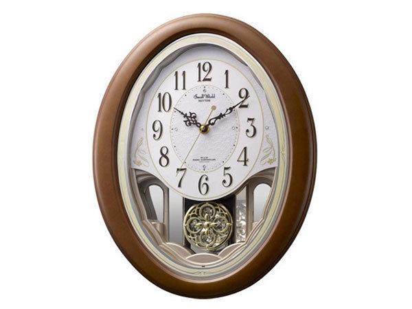 シチズン CITIZEN リズム時計製 メロディ電波掛け時計 4MN519RH06