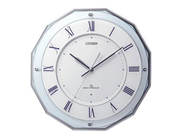 シチズン CITIZEN 電波掛け時計 スリーウェイブM835 4MY835-004