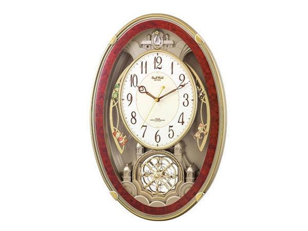 シチズン CITIZEN リズム時計製 メロディ電波掛け時計 4MN484RH23
