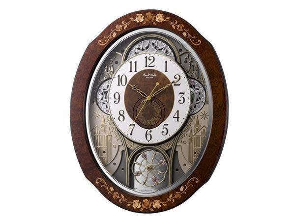 シチズン CITIZEN リズム時計製 からくり電波掛け時計 4MN521RH06