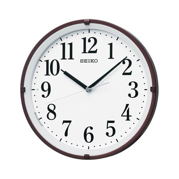 セイコー SEIKO 光センサーによる自動点灯 電波 掛け時計 KX205B ブラウン