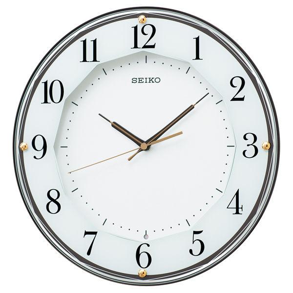 セイコー SEIKO クオーツ 電波 掛け時計 KX213B ホワイト