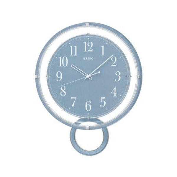 セイコー SEIKO 電波 振り子時計 掛け時計 PH205L ブルー
