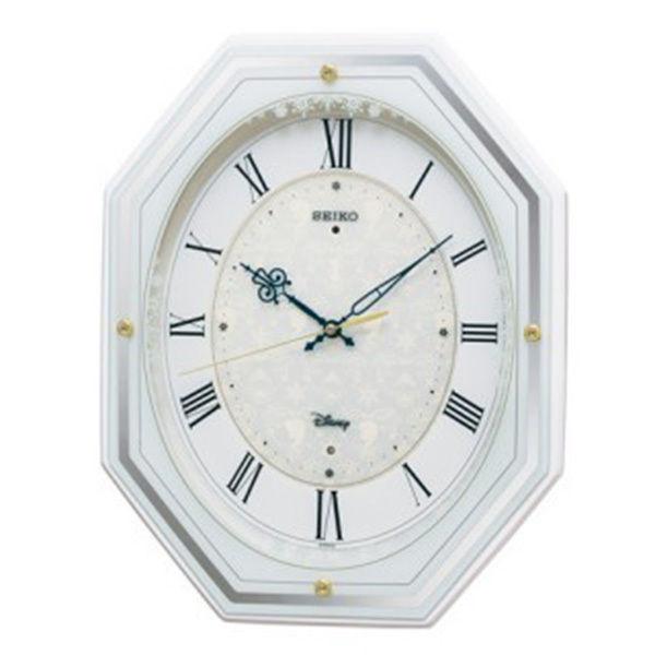 セイコー SEIKO ディズニータイム アナと雪の女王 電波掛け時計 FS505W ホワイト