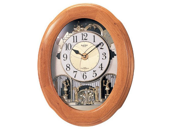 シチズン CITIZEN リズム時計製 からくり電波掛け時計 4MN422RB06