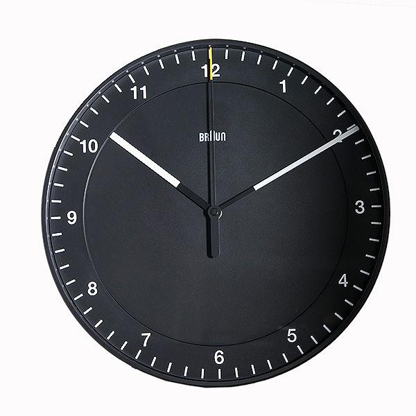 ブラウン BRAUN 掛け時計 ウォールクロック BNC017BKBK ブラック