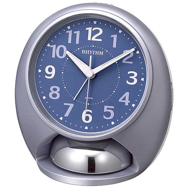 リズム RHYTHM タフバトラーラウド 目覚まし時計 4RA480SR04 ブルー