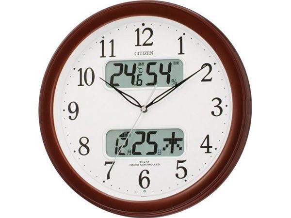 シチズン スタンダード ネムリーナカレンダーM01 シンプル掛け時計 4FYA01-006