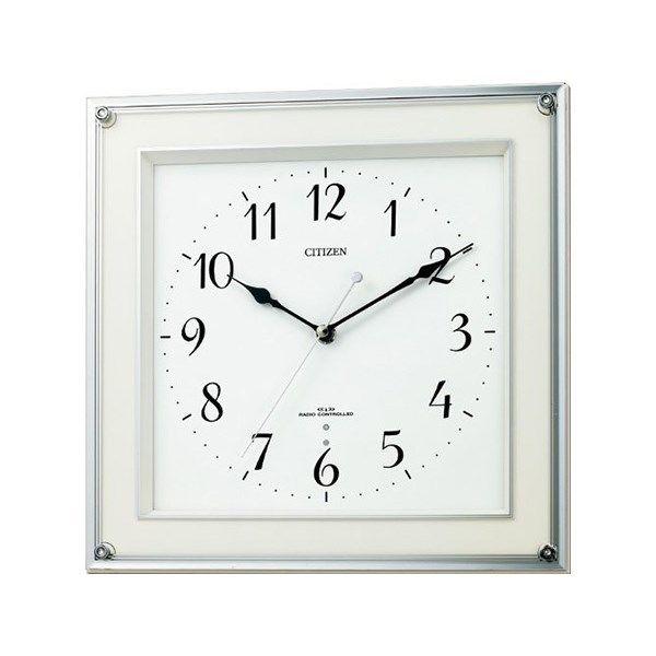 シチズン スタンダード ミレディスクエア シンプル掛け時計 8MY451-003