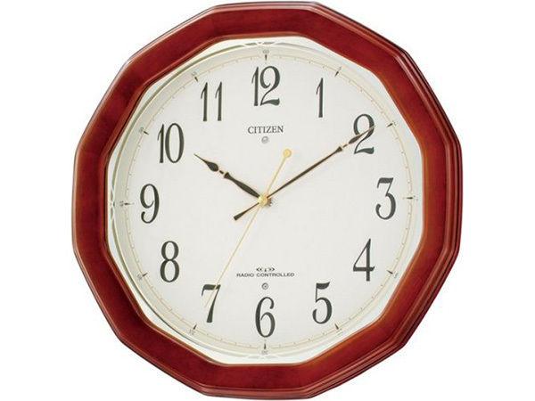 シチズン スタンダード ネムリーナM446 シンプル掛け時計 8MY446-006