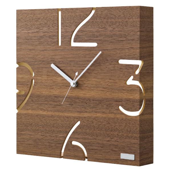 ヤマト工芸 掛け時計 YK09-104-BR ウォールナット