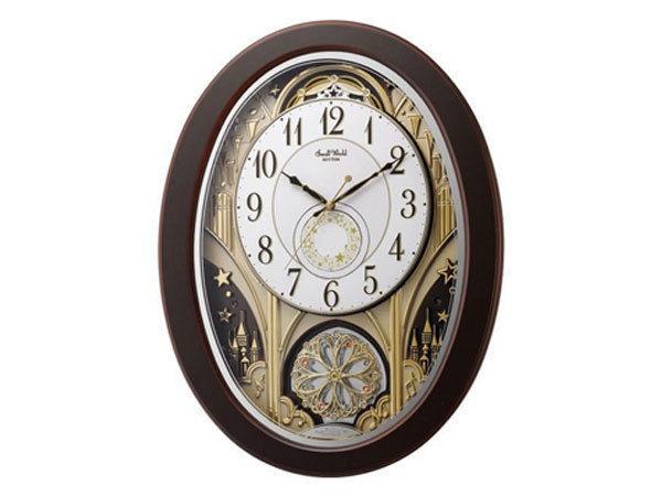 シチズン CITIZEN リズム時計製 からくり電波掛け時計 4MN526RH06