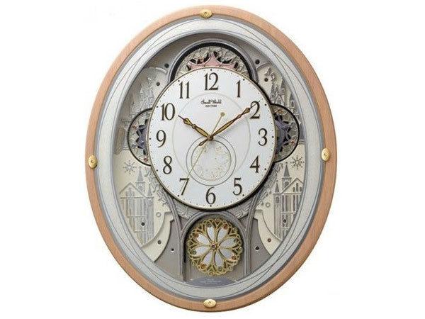 シチズン CITIZEN リズム時計製 からくり電波掛け時計 4MN525RH13