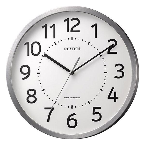 リズム RHYTHM フィットウェーブM508 電波 掛け時計 8MY508SR19 ホワイト