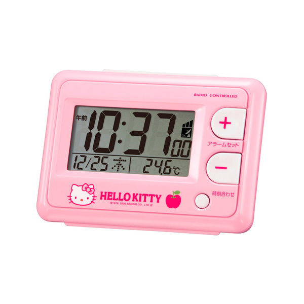 ハローキティ HelloKitty 電波 めざまし時計 R095 8RZ095RH13 ピンク