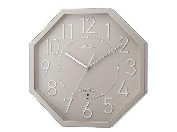 シチズン CITIZEN 電波掛け時計 シンプルモードオクト 8MY477-008