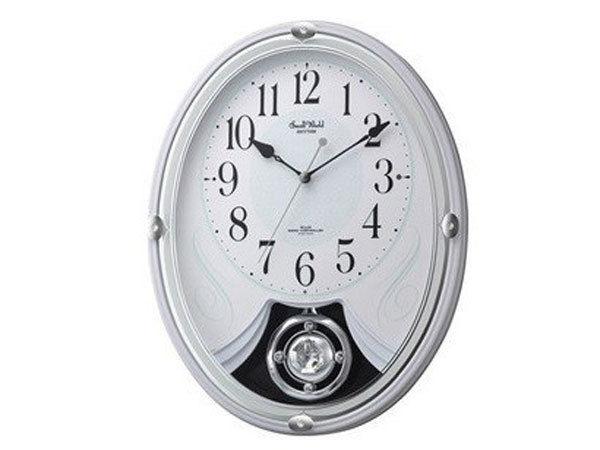 シチズン CITIZEN リズム時計製 メロディ電波掛け時計 4MN528RH03