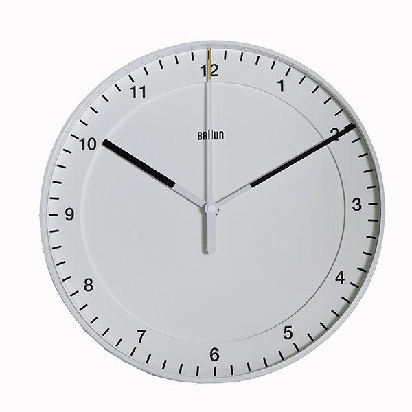 ブラウン BRAUN 掛け時計 ウォールクロック BNC017WHWH ホワイト