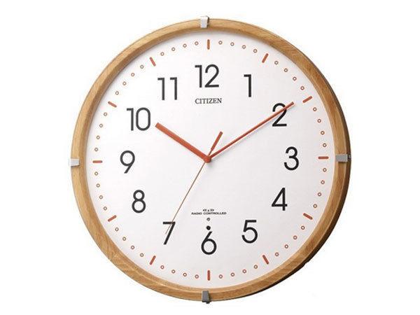 シチズン CITIZEN 電波掛け時計 シンプルモードパレット 8MYA19-007