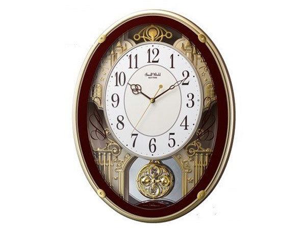 シチズン CITIZEN リズム時計製 メロディ電波掛け時計 4MN523RH06