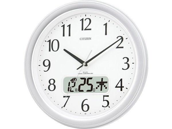 シチズン スタンダード ネムリーナカレンダーM02 シンプル掛け時計 4FYA02-019