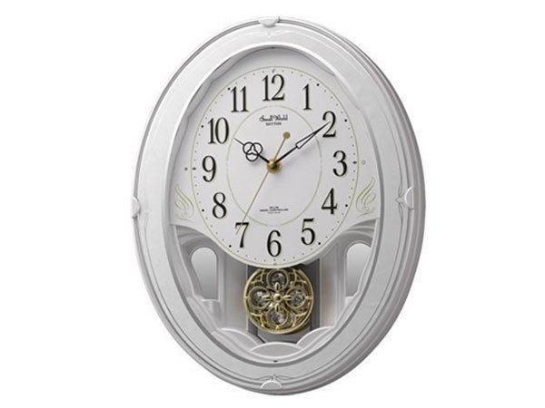 シチズン CITIZEN リズム時計製 メロディ電波掛け時計 4MN520RH03