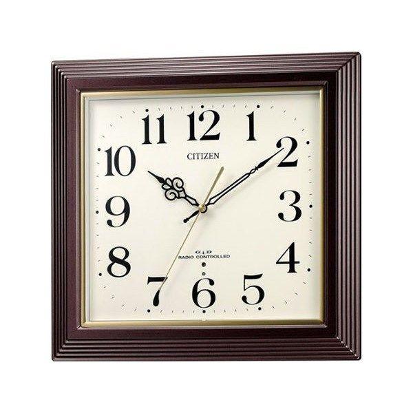 シチズン スタンダード 八坂 やさか シンプル掛け時計 4MY803-006