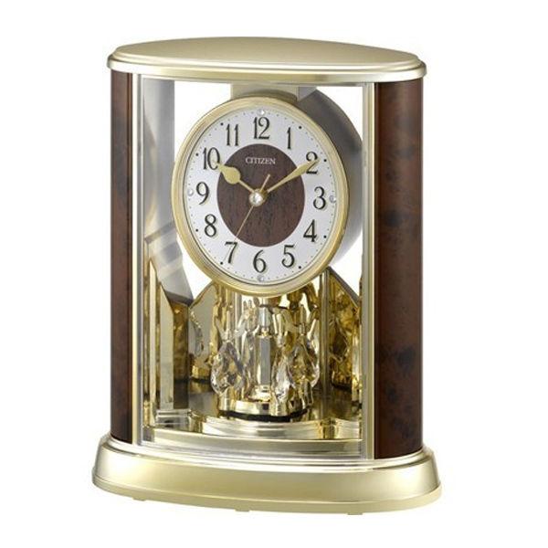 リズム RHYTHM シチズン 置き時計 サルーンG 4SG792-023 ブラウン/ゴールド