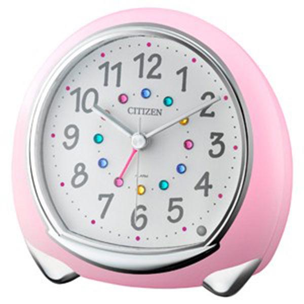リズム RHYTHM アビスコ クオーツ 目覚まし時計 8RE653SR13 ホワイト/ピンク