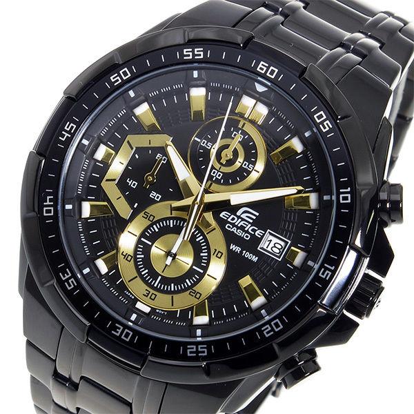 カシオ エディフィス クロノ クオーツ メンズ 腕時計 EFR-539BK-1AV ブラック