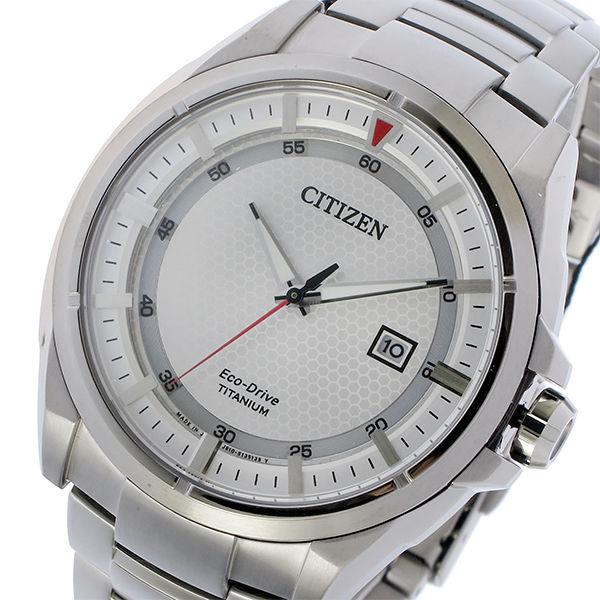 シチズン CITIZEN エコドライブ ソーラー チタン クオーツ メンズ 腕時計 AW1401-50A シルバー