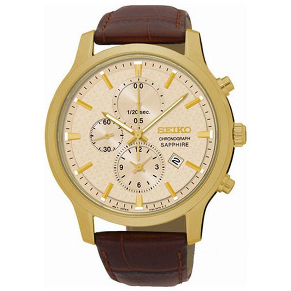 セイコー SEIKO クロノ クオーツ メンズ 腕時計 SNDG70P1 ゴールド