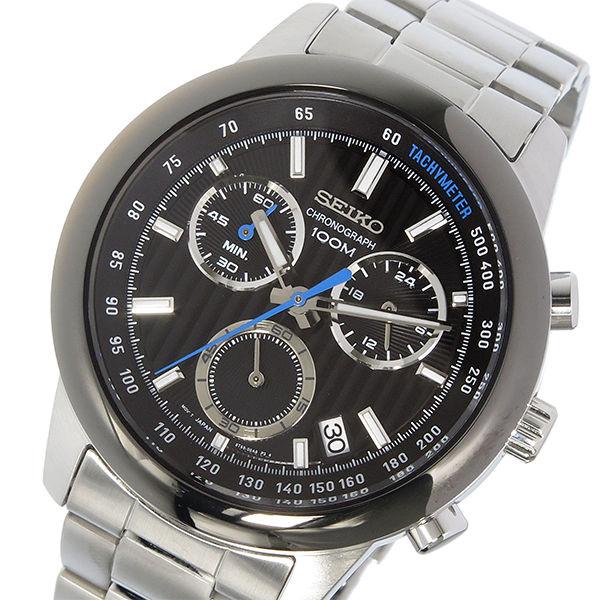 セイコー SEIKO クロノ クオーツ メンズ 腕時計 SSB217P1 ブラック