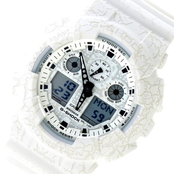 カシオ CASIO Gショック G-SHOCK クオーツ メンズ 腕時計 GA-100CG-7A ホワイト