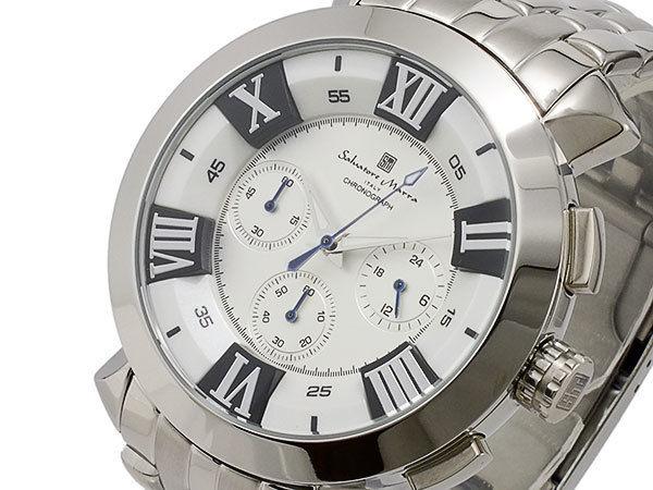サルバトーレマーラ クオーツ メンズ クロノグラフ 腕時計 SM14107-SSWH