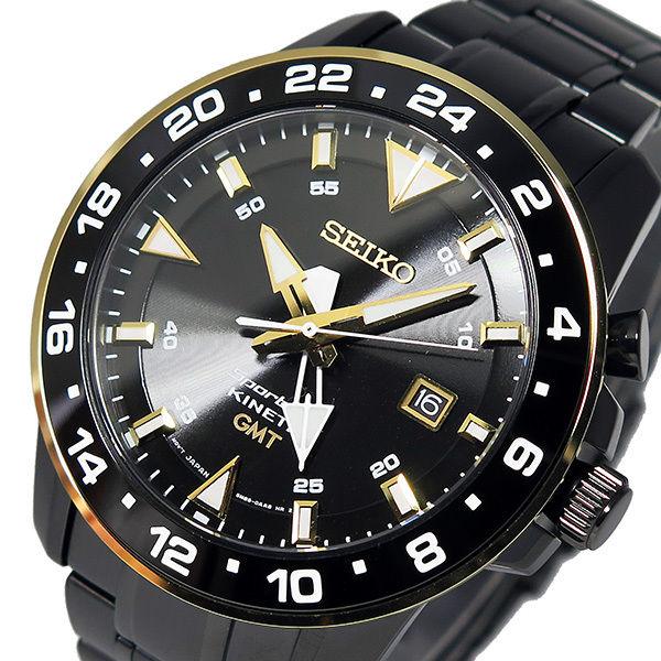 セイコー スポーチュラ キネティック クオーツ メンズ 腕時計 SUN026P1 ブラック